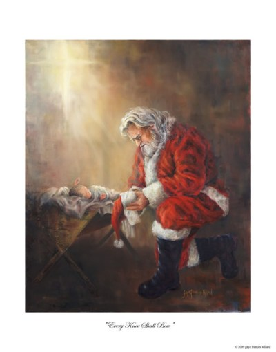 santa-kneeling-to-Jesus